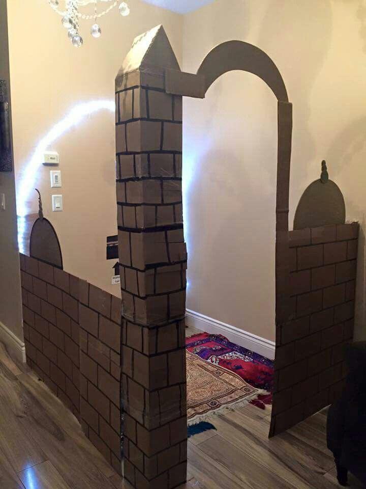 تنتشر بيوت وخيام الاطفال الصغيرة التي تناسب أحجامهم التي كانت ومازالت ذات اثر كبير في جذب اﻷطفال تظهر تل Ramadan Crafts Muslim Prayer Room Ideas Ramadan Kids