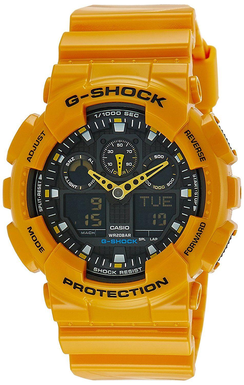 Casio GShock AnalogDigital Black Dial Men's Watch GA
