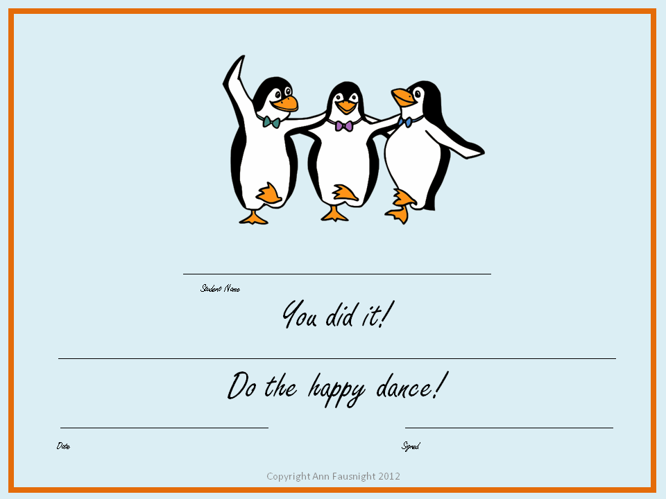 Word Detectives  Happy Dance Certificate And Dance