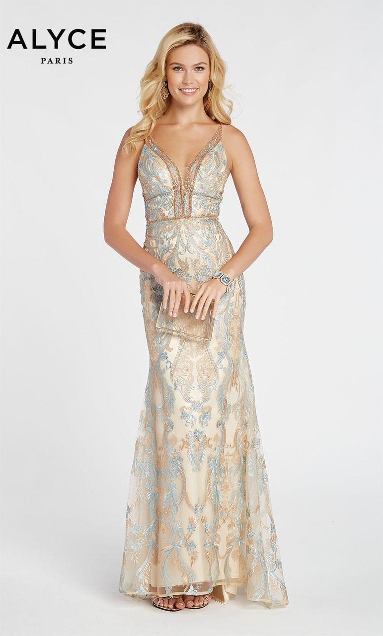 36597cf4862 Alyce Paris Style 60488 Inspired By Kim Kardashian Met Gala Evening Gown