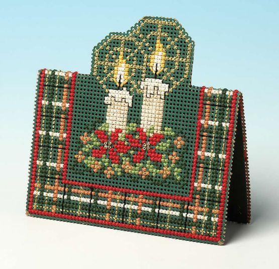 Christmas Candles 3D Cross Stitch Card Kit £9.35 | Past Impressions | The Nutmeg Company