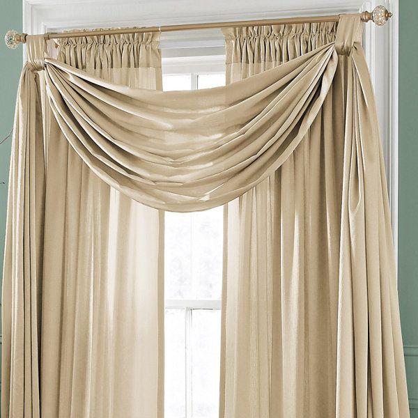 Royal Velvet Hilton Big Scarf Valance Jcpenney Curtains