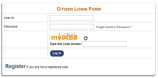 CitizenLoginFormFormat  Online Application Form