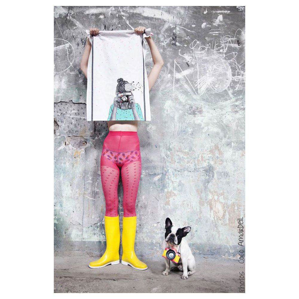 Cheeky snapshot tea towel - Home Candy - contemporary homewares with a playful design twist