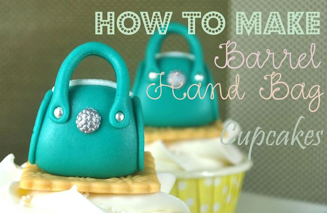 Cute Fondant Purses As Cupcake Toppers With The Tutorial From Bake Hy Blog Two Other Purse Tuts Also