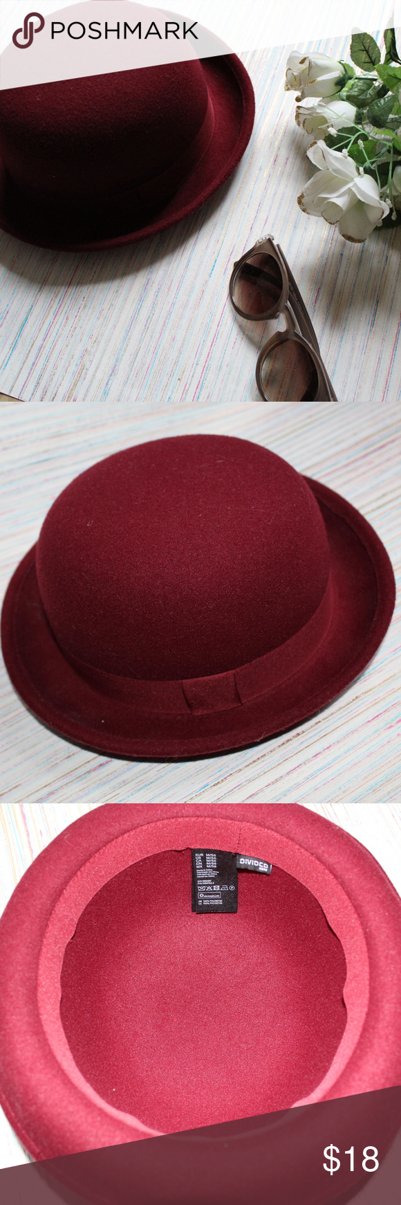 e56634a95e6b6 H M Red bowler hat H M red bowler hat 56cm In brand new condition Available  for next business day shipping H M Accessories Hats