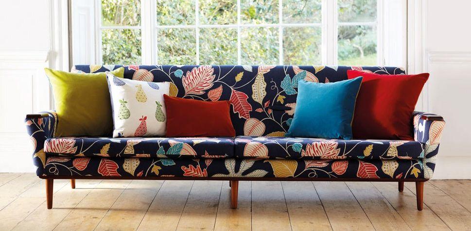 floral upholstered sofa furniture design decor interiors rh pinterest com