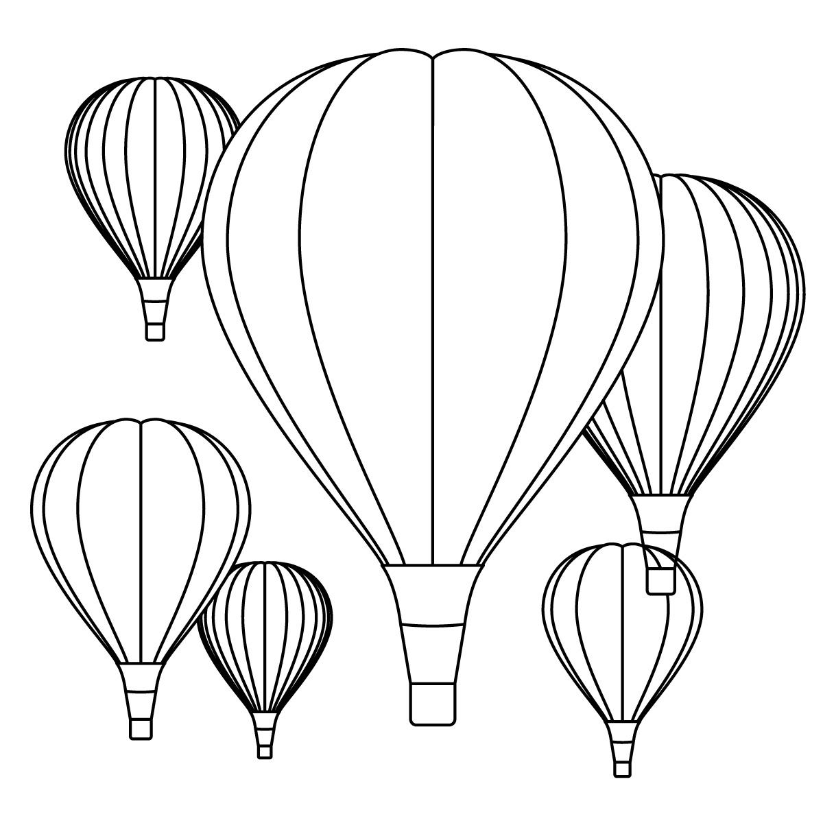 Hot Air Balloon Coloring Pages - Free Printables | Hot air balloons ...