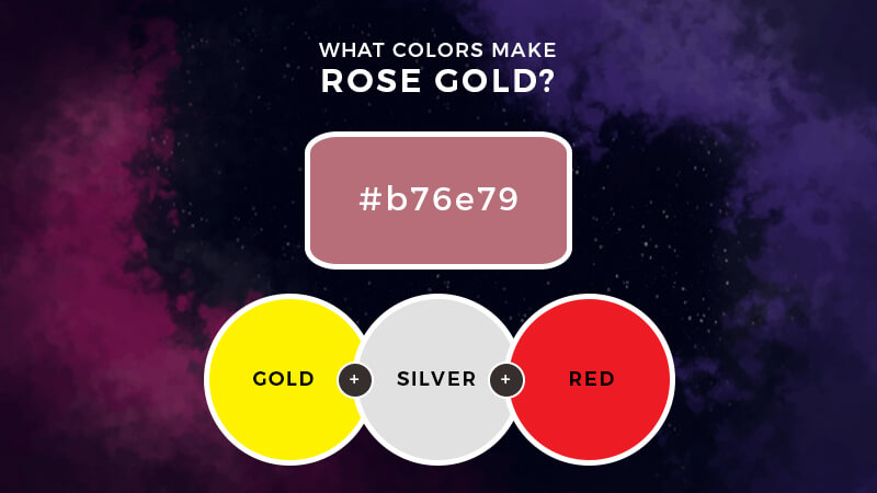 What Colors Make Rose Gold How To Make Rose Gold Color Rose Gold Painting Rose Gold Color Gold Paint Colors