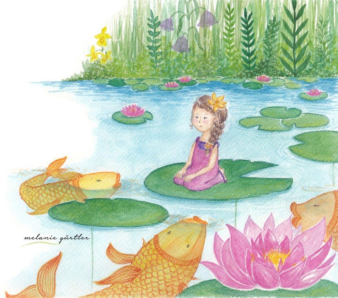 Daumelinchen Marchen Kinderbuch Illustration Niedlich Aquarell