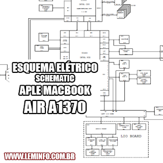 Esquema Elétrico Notebook Laptop Apple Macbook Air A1370