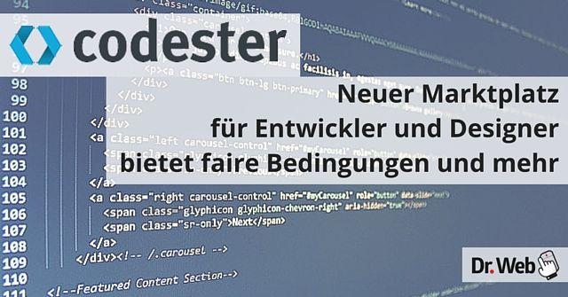 Codester: Marktplatz für Designer und Entwickler
