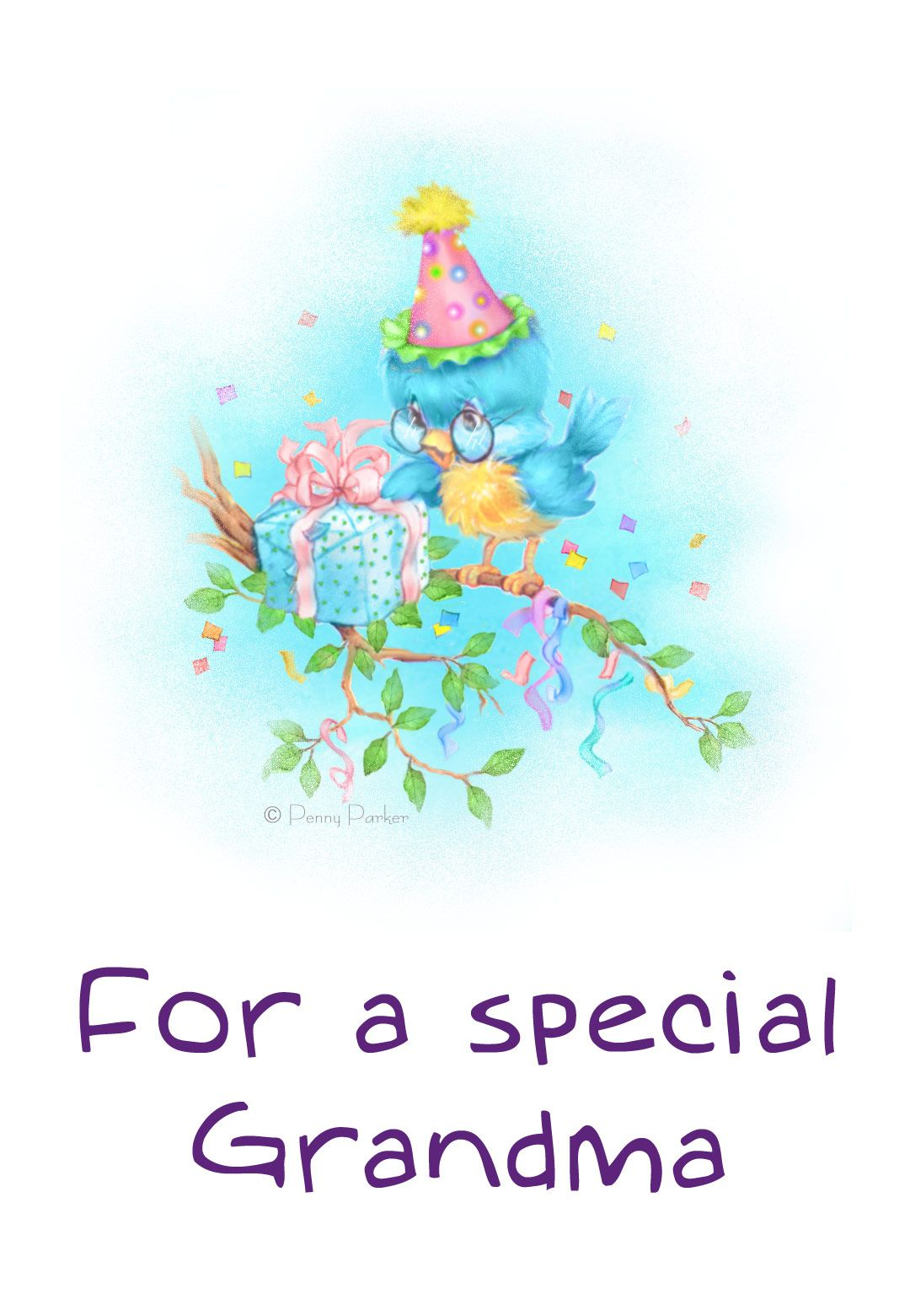 photograph regarding Printable Birthday Cards for Grandma titled Free of charge Printable For A Unique Grandma Greeting Card