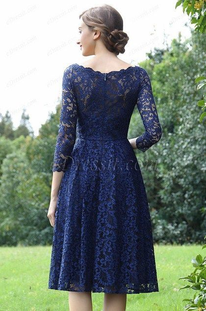 79ab05a03e5 eDressit Long Sleeves Blue Lace Mother of the Bride Dress (26170205)