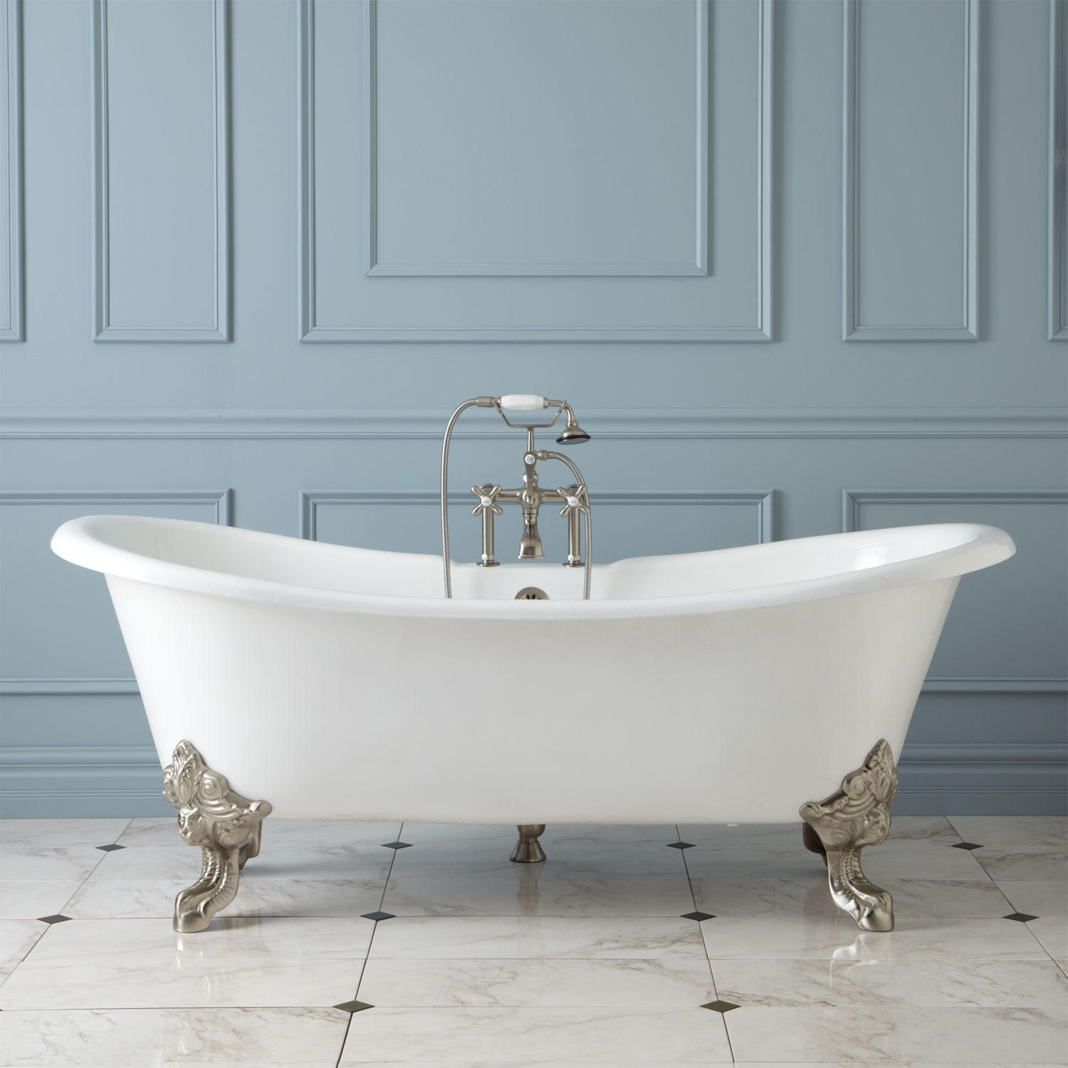 Wanted: Deep, freestanding soaker tub with backrests on either end ...