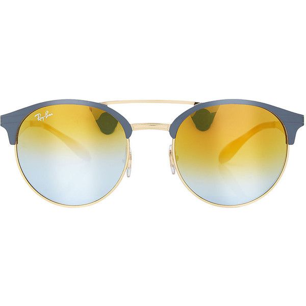 Ray-Ban RB3545 Sunglasses (2.110 ARS) ❤ liked on Polyvore featuring accessories, eyewear, sunglasses, glasses, multicolored, colorful glasses, multi color sunglasses, ray ban glasses, multi colored sunglasses and ray ban sunglasses