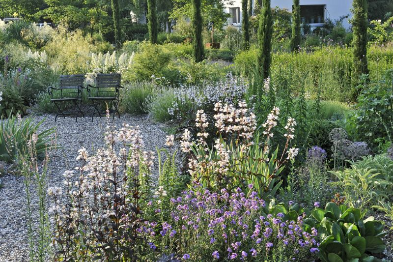 Lovely garden by Peter Janke at his nursery Hortus in Hilden Germany photo
