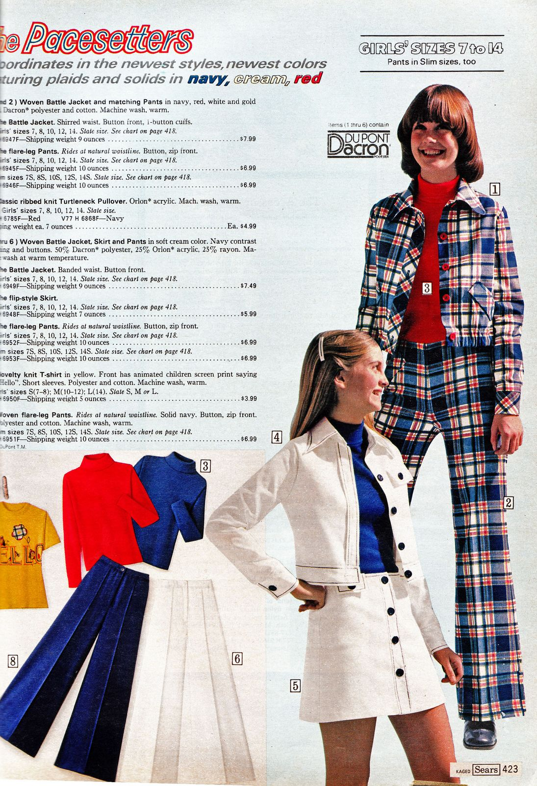 Mini Skirt Monday #163: Sears 1974 Catalog (Girls) | Retro ...