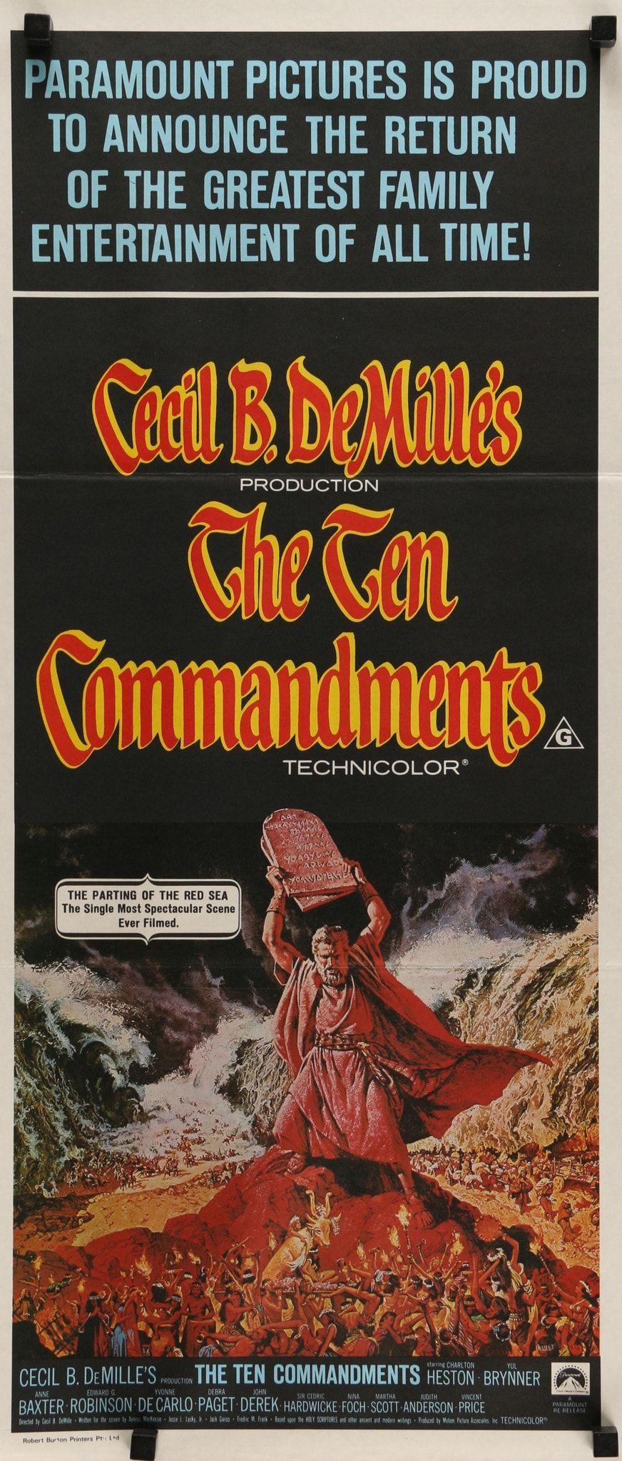 Ten Commandments 1956 Movie Posters For Sale Ten Commandments Movie Posters Vintage