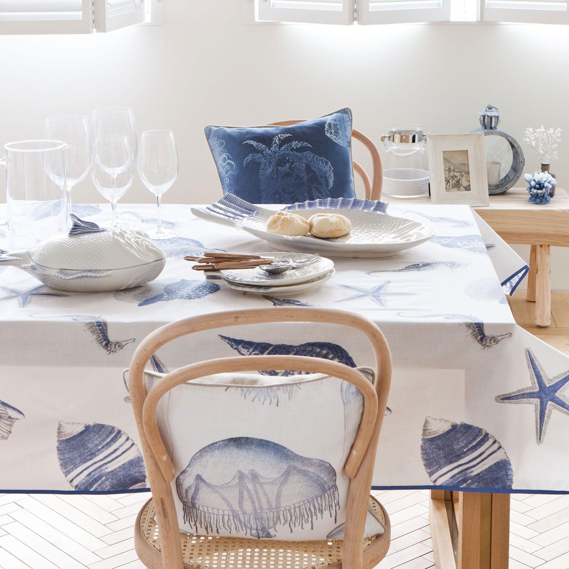 MARINE MOTIF PLASTIC-COATED TABLECLOTH - Tablecloths \u0026 Napkins - Tableware | Zara Home United & MARINE MOTIF PLASTIC-COATED TABLECLOTH - Tablecloths \u0026 Napkins ...