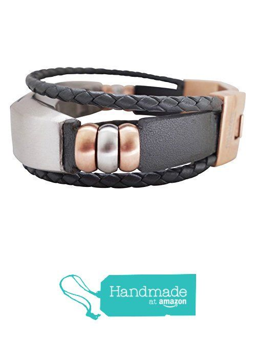 1a89a939024e Fitbit Alta Band - Grey   Rose Gold - Aurel - Jewelry for Fitbit Alta -