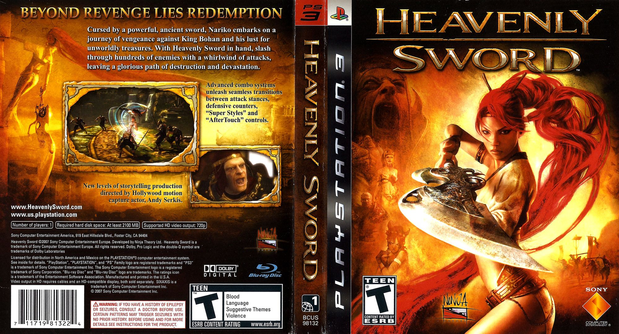 Heavenly Sword This Game Had A Great Story But I Had A Lot Of