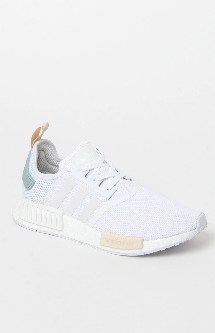 popular stores get new online retailer Women's White NMD-R1 Sneakers | Leather shoes woman