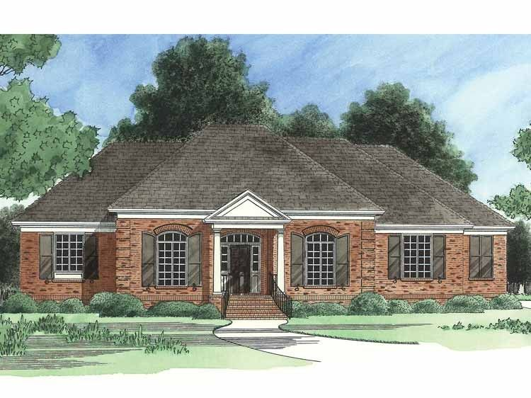 French Country House Plan with 2931 Square Feet and 3 Bedrooms ...