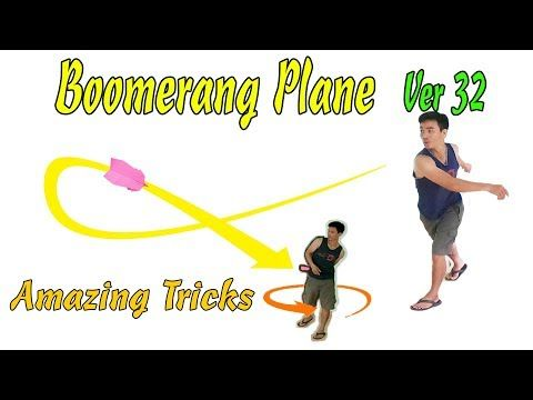 Cách Gấp Máy Bay Boomerang Ver 32, Origami Boomerang plane
