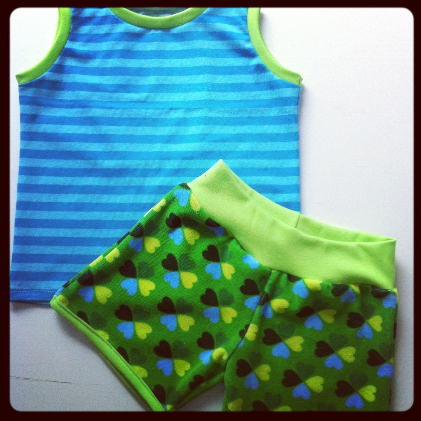 Schnittmuster: Hot-Summer-Set. Shorts und Tanktop | Bebé | Pinterest ...