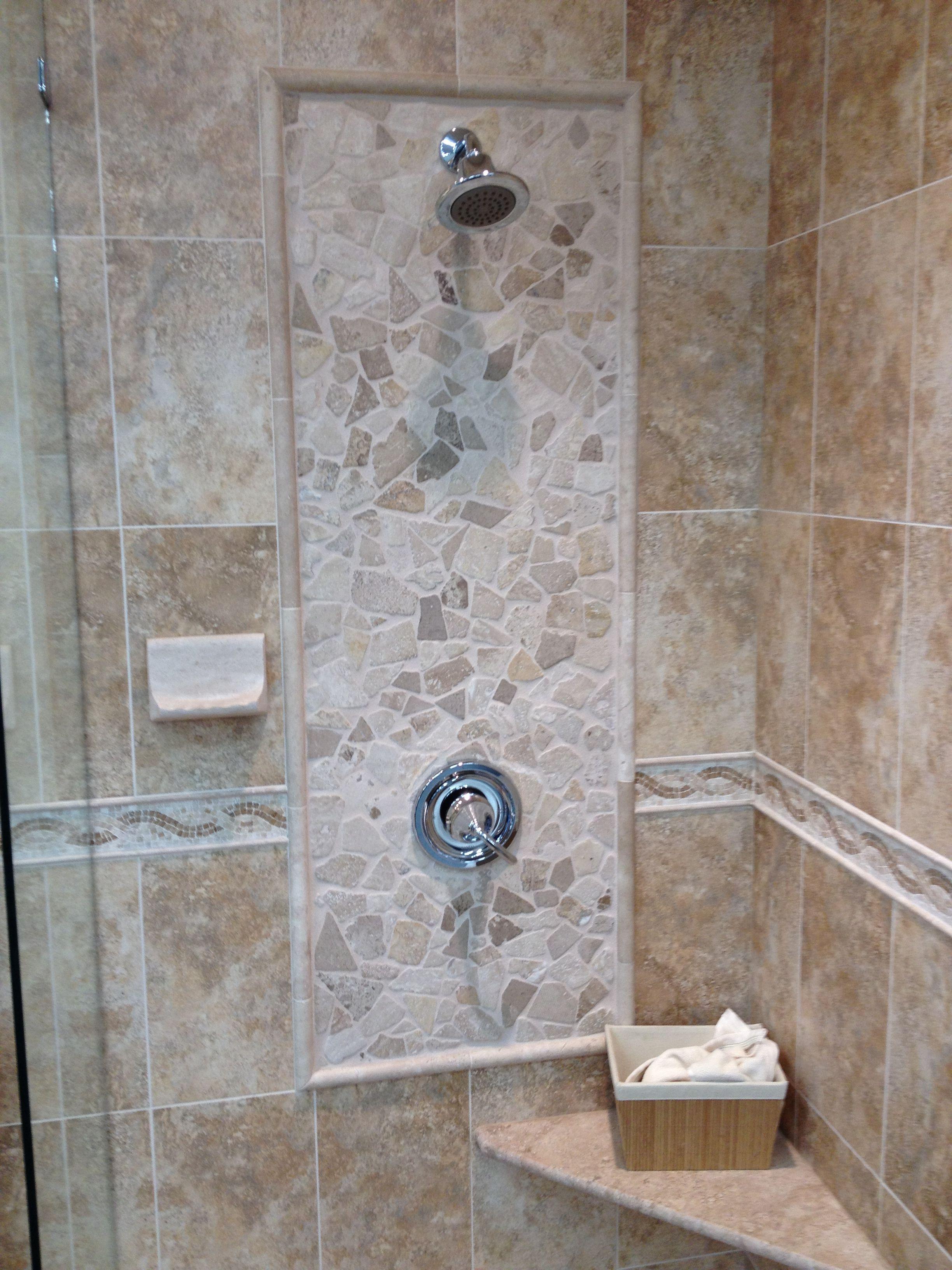 Tile idea around shower head and faucet   i decorate - bathroom ...