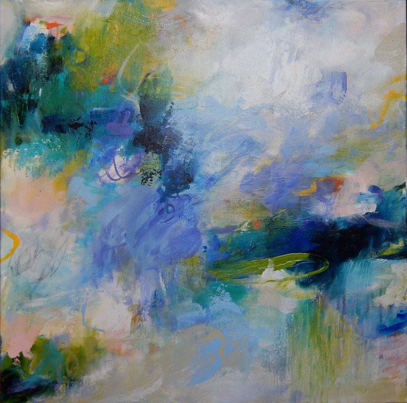 abstract colorful and expressionist paintings by artist Hilma Koelman