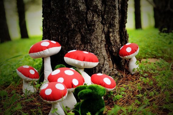 #fabric #toadstools perfect for little #fairies {heart}