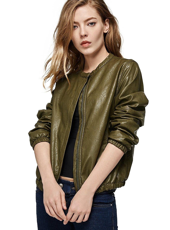 Women S Clothing Coats Jackets Vests Leather Faux Leather Women S Faux Leath Faux Leather Jacket Women Faux Leather Bomber Jacket Leather Jacket Zipper [ 1500 x 1109 Pixel ]