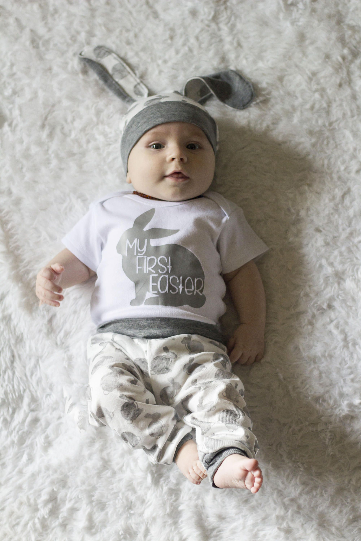 Easter Bunny Newborn Infant Baby Girl Boy Romper Jumpsuit Bodysuit Outfit Summer