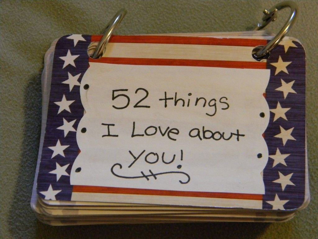 How to make scrapbook for husband - Diy Card Book 52 Things I Love About You
