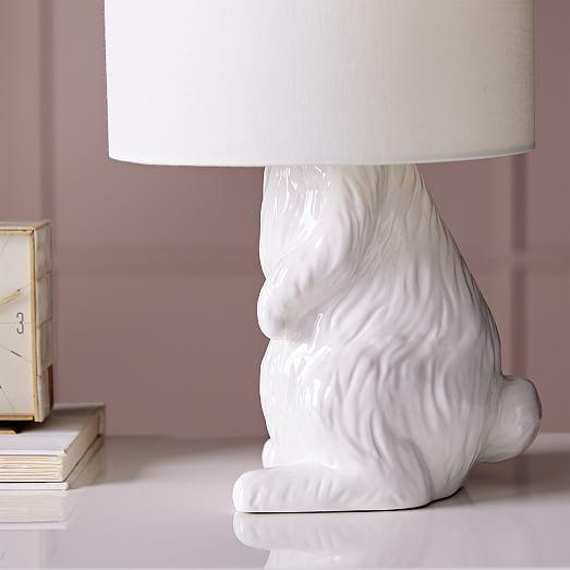Ceramic Nature Rabbit Table Lamp Cosmopolitain
