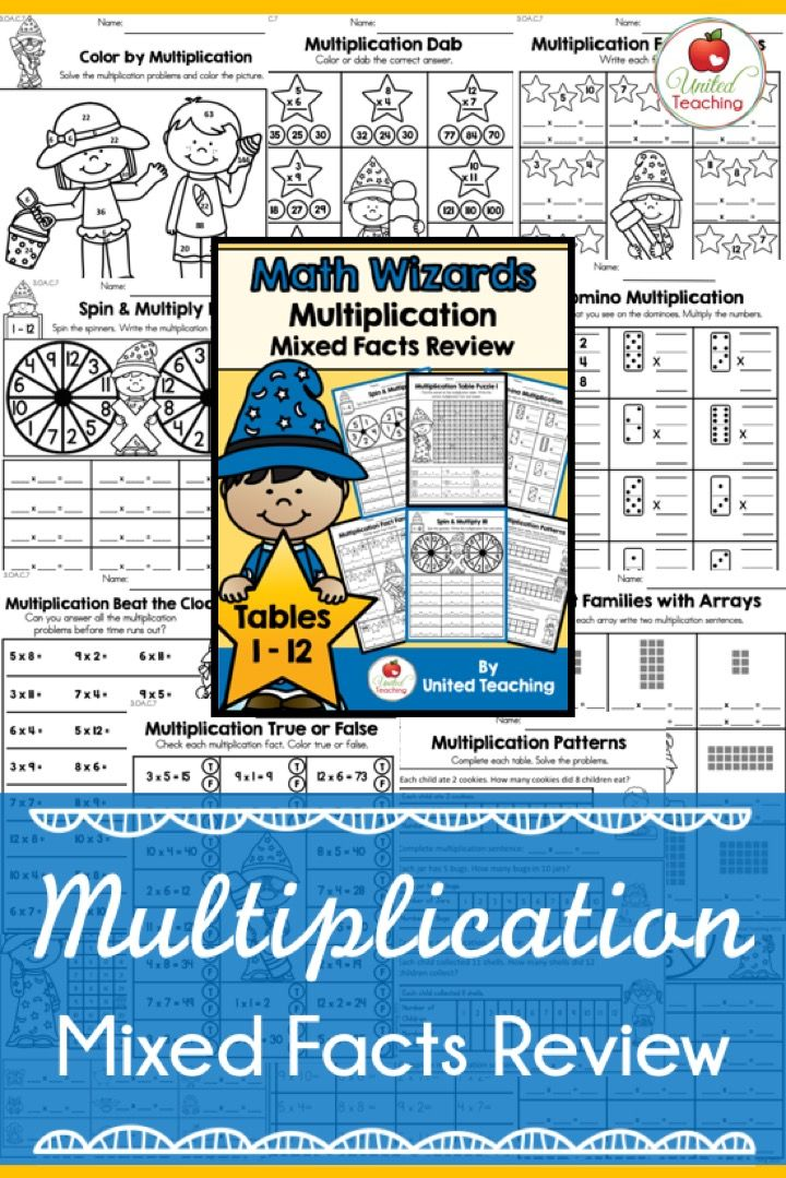 Math Wizards Multiplication Mixed Facts Review | Pinterest ...