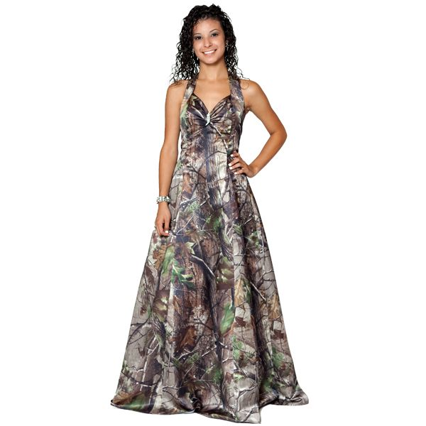 Realtree Camo Gown with a Sweetheart Halter