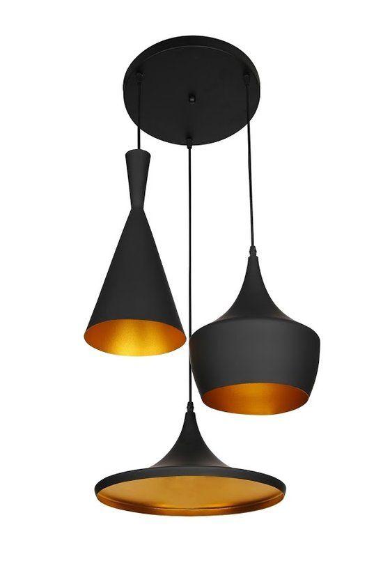 lumenzy triple hanglamp zwart goud verlichting pinterest