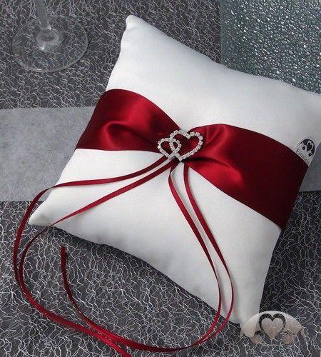 Ringkissen: Ringkissen Amore parentesi rot-weiß Kissen für Hochzeitsringe in großer Auswahl