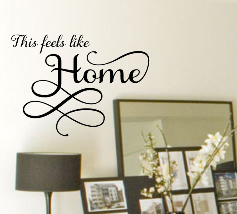 This Feels Like Home Family Vinyl Wall Decal Wall Art Wall