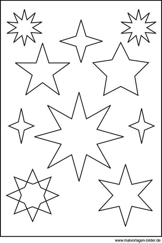 sternen vorlage  schnittmuster kostenlos  pinterest