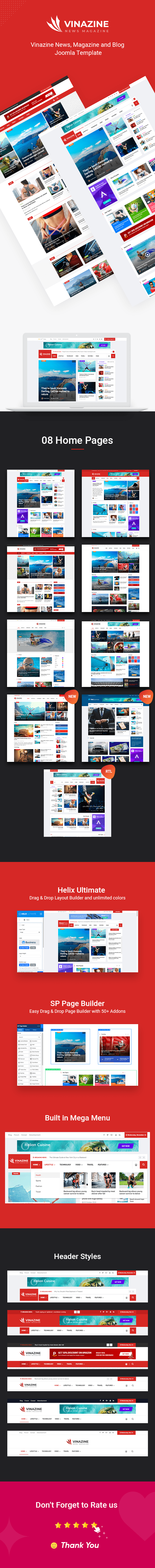 Vinazine Joomla News Magazine Template Magazine Template Joomla News Magazines