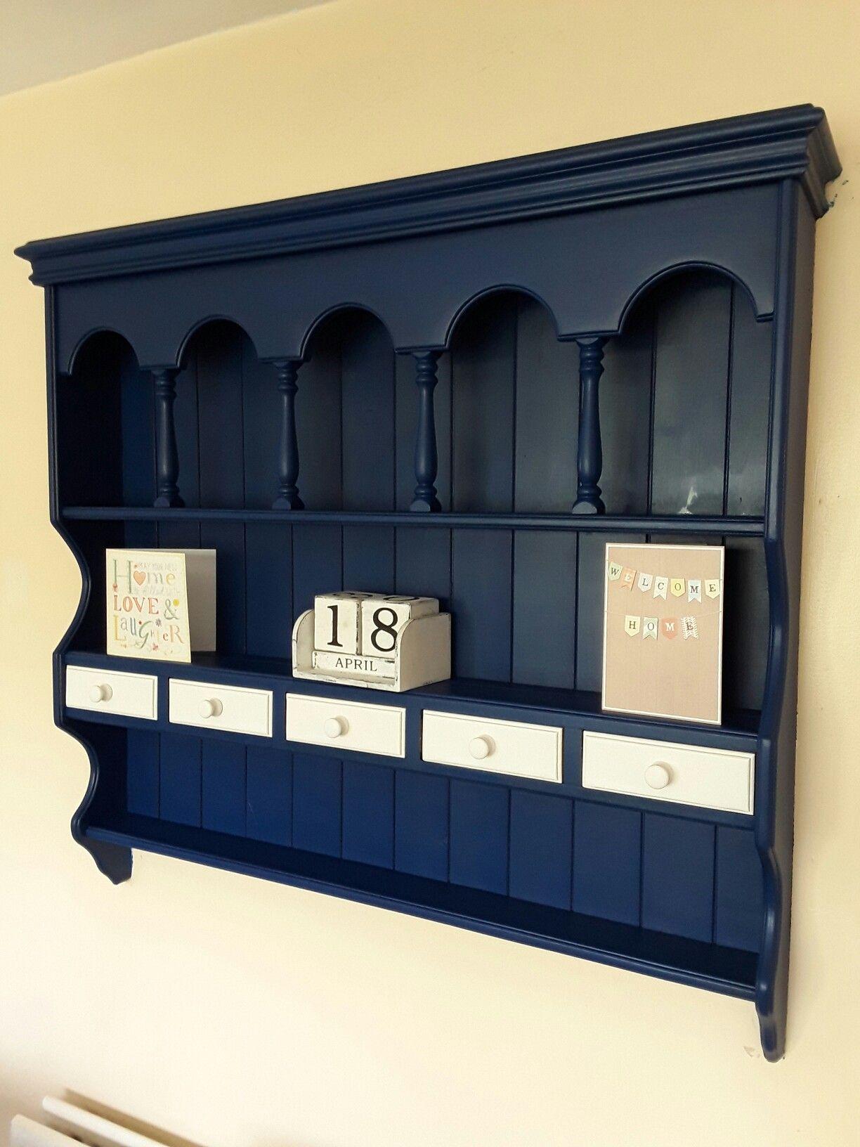 Autentico Nordic Blue Wall Dresser Mobilya Boyama Mobilya