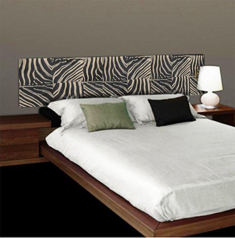 Ideas originales cabecero de cama forrado con papel pintado - Cabecero cama pintado ...