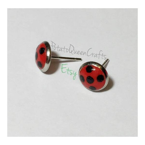 Miraculous Ladybug Earrings 14 Liked On Polyvore