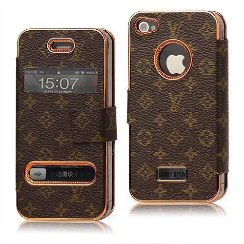 sports shoes 4524b 2b021 Amazon.com: Lv Monogram Wallet Flip Leather Case for Iphone 4 4s ...