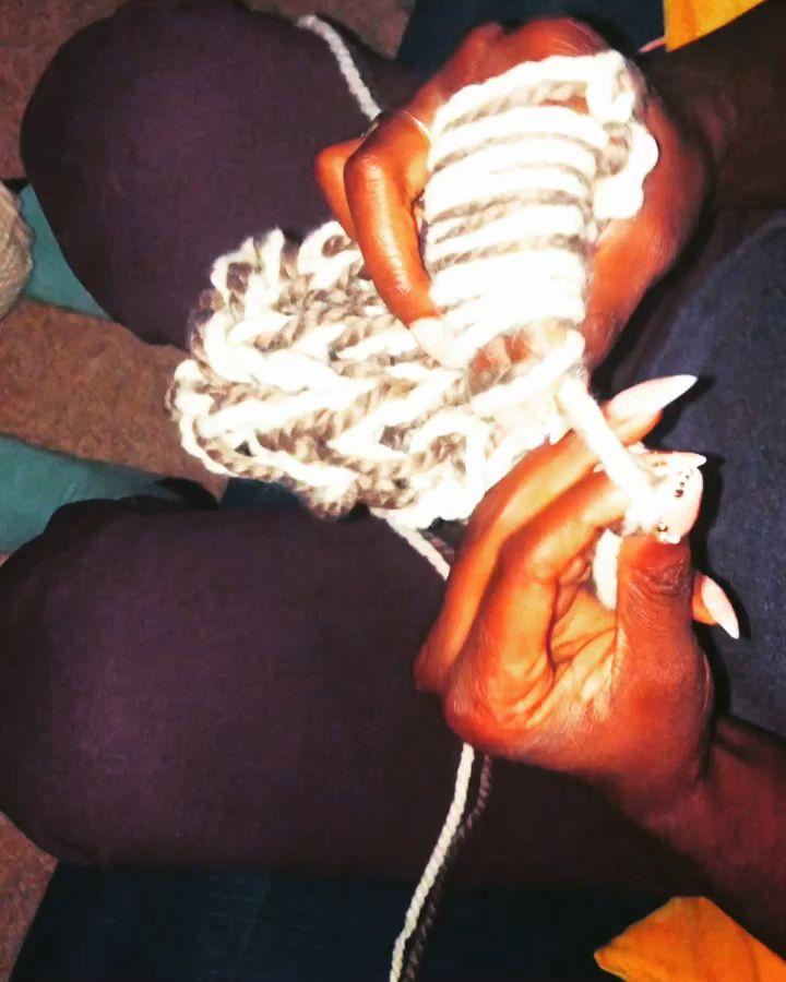 Photo of Finger knitting