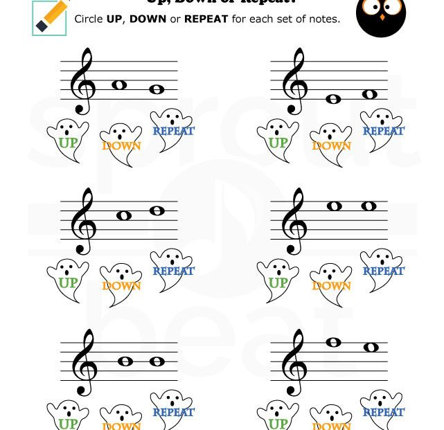 Music-Worksheets-Halloween-Up-Down-Repeat-002 | Worksheets ...